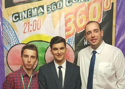 Alejandro Pelayo, Carlos Solís y Nacho Camacho, organizadores del Cinema 360º Contest