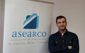 David París, presidente de Asearco, en la nueva sede de Rivas