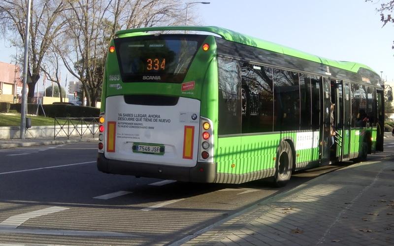Acusan a un conductor de la línea 334 Madrid-Rivas de vejar, insultar y escupir a una joven con discapacidad