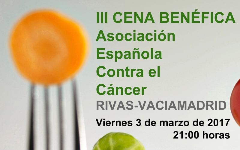 La Asociación Española contra el Cáncer de Rivas celebra su cena benéfica el 3 de marzo