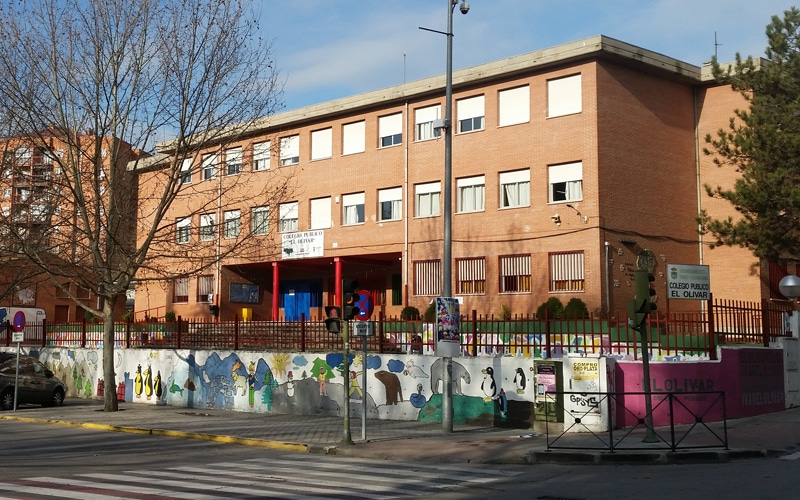 Colegio público El Olivar, en Rivas Vaciamadrid