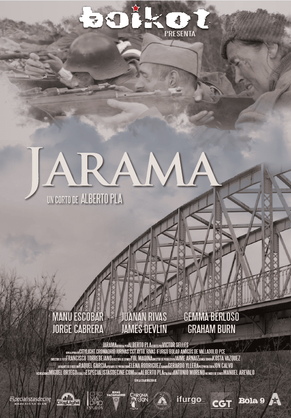 Cartel cortometraje 'Jarama', de Alberto Pla (Fuente: Alberto Pla).