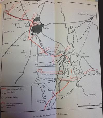Mapa de la Batalla del Jarama