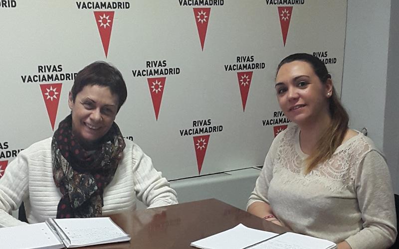 Carmen San José, diputada de Podemos en la Asamblea de Madrid, y Aída Castillejo, concejala de Salud en Rivas