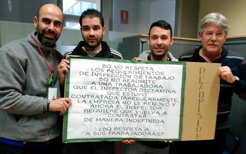 Visita de Rivas Puede a representantes de los trabajadores de BQ