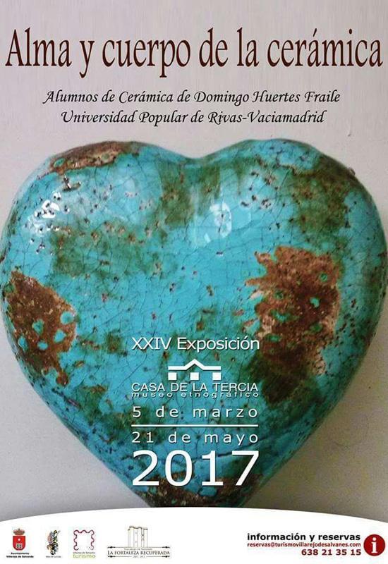 Exposición de los alumnos de cerámica de la Universidad Popular de Rivas en Villarejo