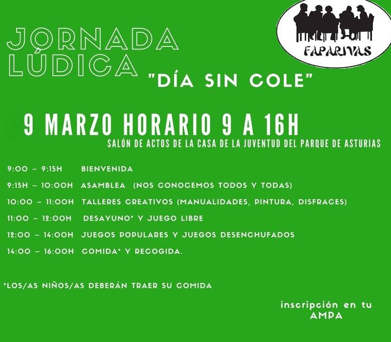 Jornada lúdica en Rivas en la huelga de educación