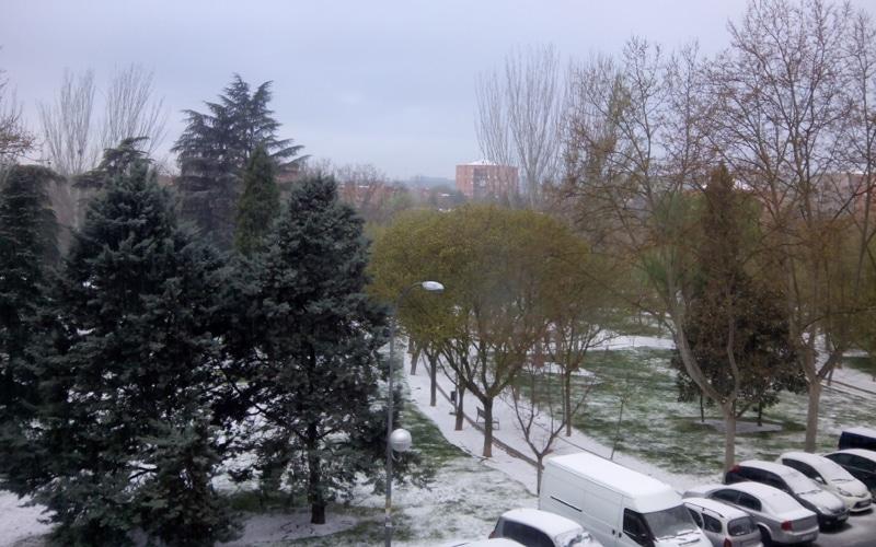 Nieve de primavera en Rivas