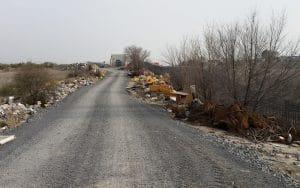 Camino interior en instalaciones de Adif