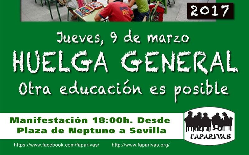 Este jueves, huelga educativa en todos los niveles