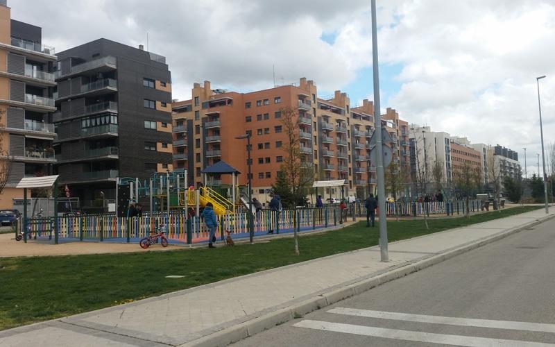Bulevar en el barrio de la Luna de Rivas