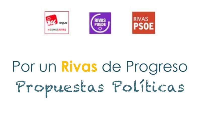 Acuerdo 'de mínimos' entre los grupos IU-Equo-Somos Rivas, Rivas Puede y PSOE