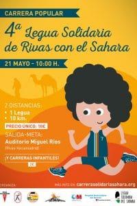 Cartel IV Legua Solidaria Rivas con el Sahara