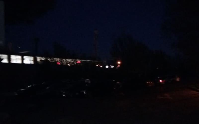 El aparcamiento del Metro de Rivas Vaciamadrid, sin luz