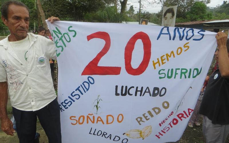 Las claves de la 'expedición' ripense a Colombia: el XX aniversario de San José de Apartadó