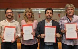 Acuerdo entre las tres fuerzas de izquierdas de Rivas, en 2015