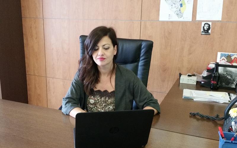 Sira Rego, en su despacho