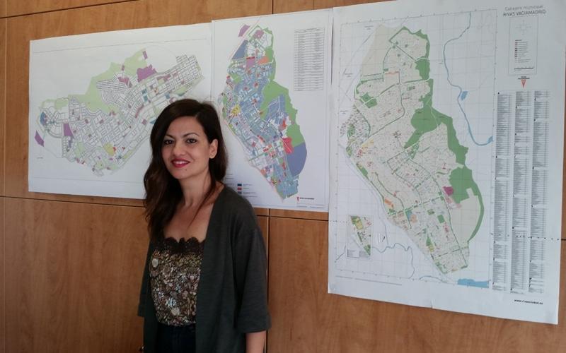 Sira Rego, en su despacho de la Concejalía de Urbanismo