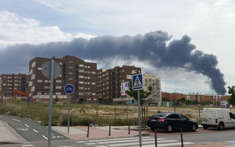 Incendio en una planta de tratamiento de residuos de Arganda