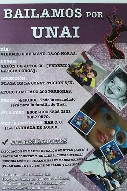Cartel del evento 'Bailamos por Unai'