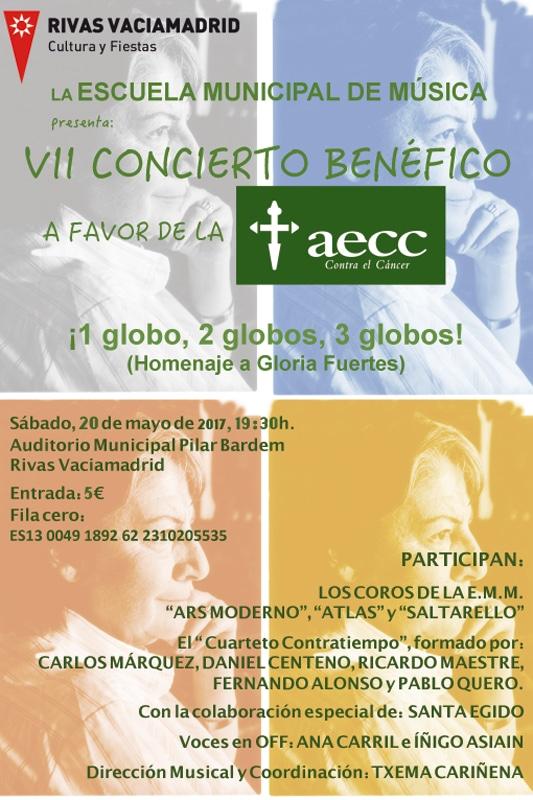 Concierto de la Asociación Española Contra el Cáncer (AECC) en Rivas