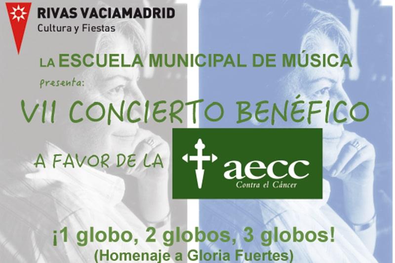 Este sábado, concierto en Rivas a favor de la Asociación Española Contra el Cáncer