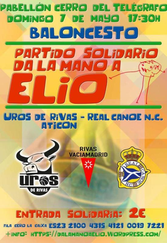 Cartel del partido solidario 'Da la mano a Elio'