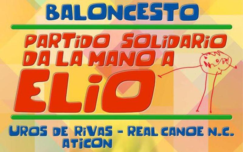 Uros de Rivas celebra un partido solidario para ayudar a Elio, un niño ripense con pluridiscapacidad