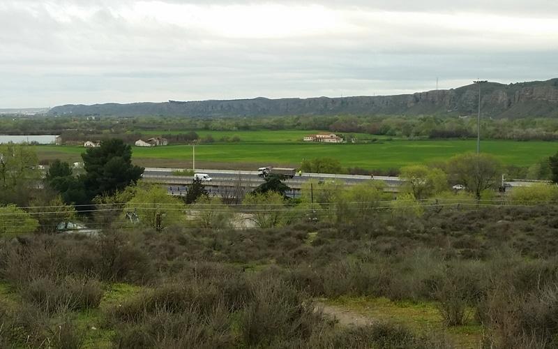 La A-3, en el tramo que comunica Rivas con Arganda del Rey