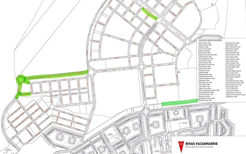 Obras en los viales del barrio de la Luna que se ejecutarán desde el 3 de julio hasta diciembre de 2017