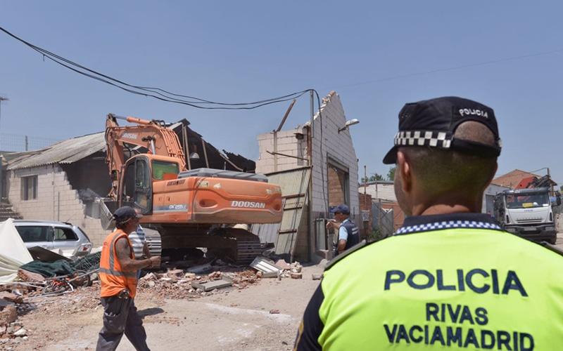 Operación contra el narcotráfico en la Cañada Real