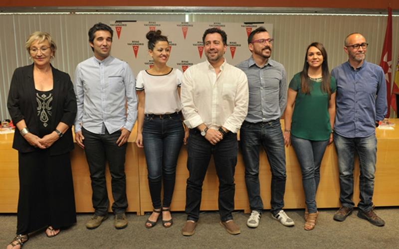 Los siete concejales de Somos Rivas