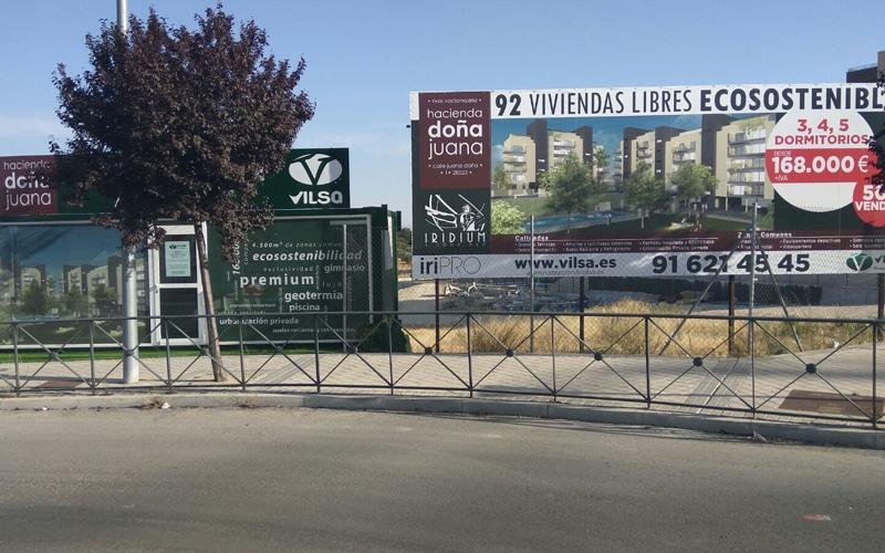 Oficina de comercialización de Hacienda Doña Juana (Fuente: Vilsa Grupo Inmobiliario).