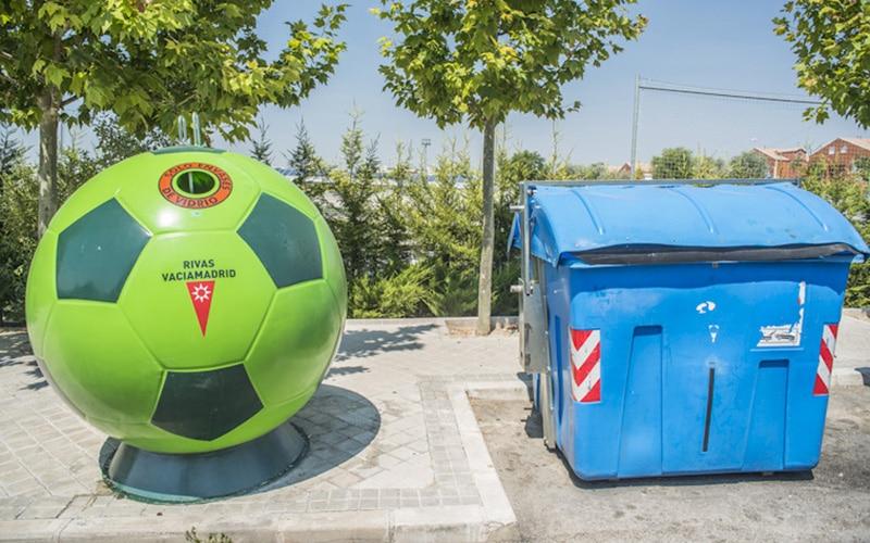 Contenedores de basura de Rivas Vaciamadrid (Fuente: Ayuntamiento de Rivas Vaciamadrid).