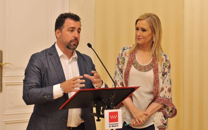 Pedro del Cura y Cristina Cifuentes, en una comparecencia tras la reunión de este jueves