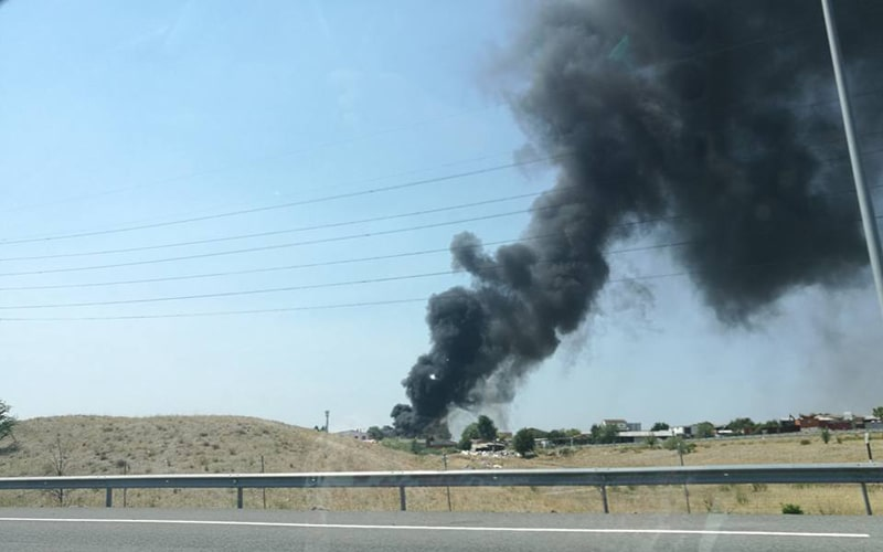 Tercer incendio en tres días en las inmediaciones de la M-823