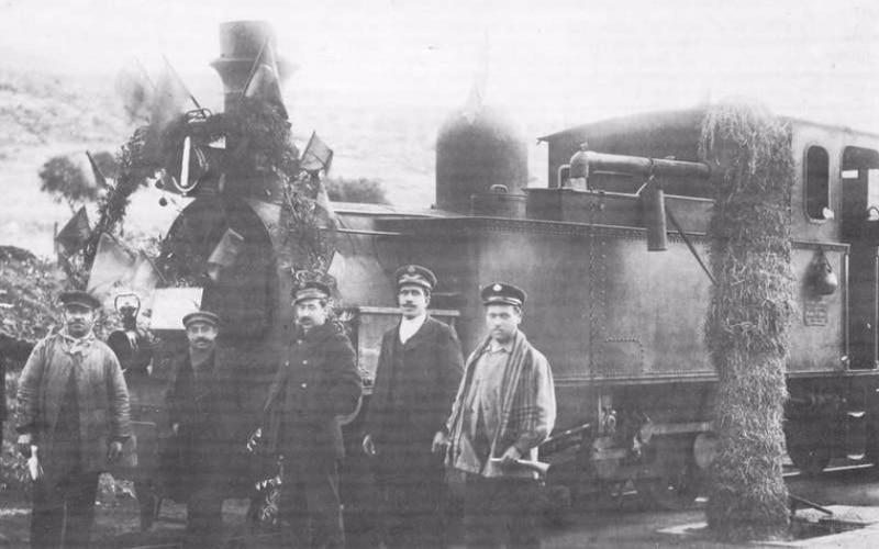 Llegada del tren a Chinchón (Fuente: Archivo del Ayuntamiento de Arganda del Rey)