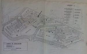 Plano original de la disposición de la urbanización Pablo Iglesias (Fuente: Planeta Rivas).