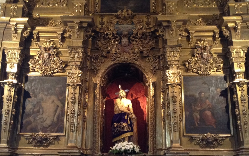 Retablo de la capilla del Santísimo Cristo de los Afligidos de Rivas