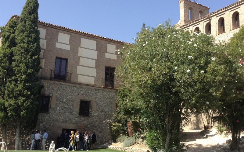 Jardín privado del antiguo convento mercedario anexo a la ermita del Cristo de Rivas