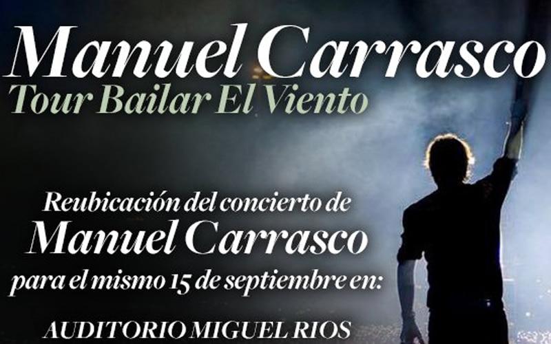 Rivas acogerá este viernes el concierto de Manuel Carrasco