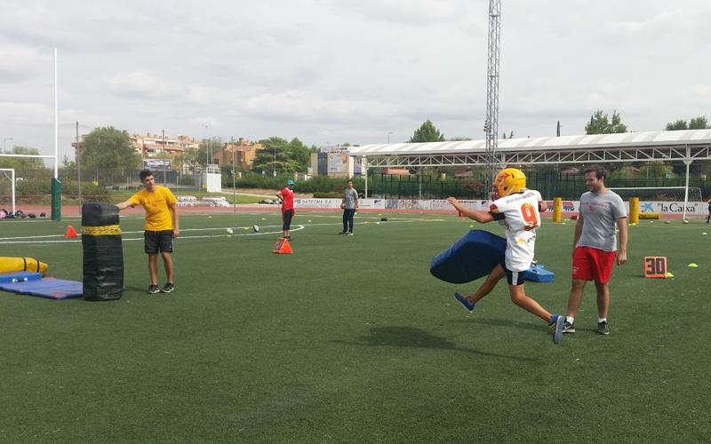 Actividad organizada por los Osos de Rivas en el Día del Deporte