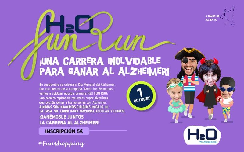 El centro comercial H2O acoge el 1 de octubre la #FunRun, la carrera solidaria más divertida