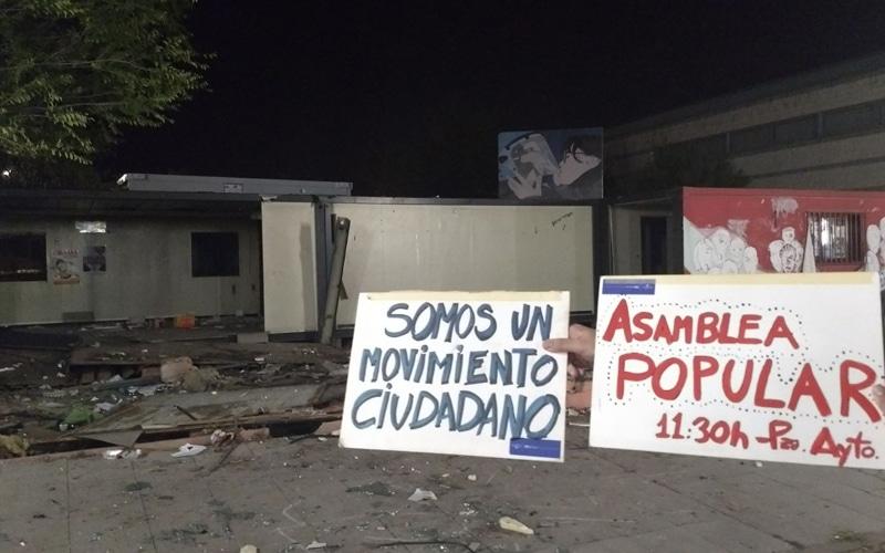 Desmantelada la 'sede' de la Asamblea Popular del 15-M de Rivas