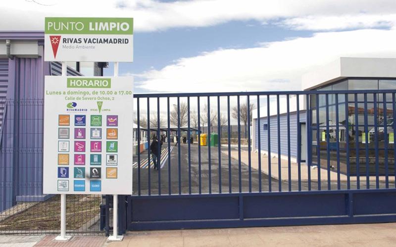 Punto Limpio de la calle de Severo Ochoa (Fuente: Ayuntamiento de Rivas Vaciamadrid).