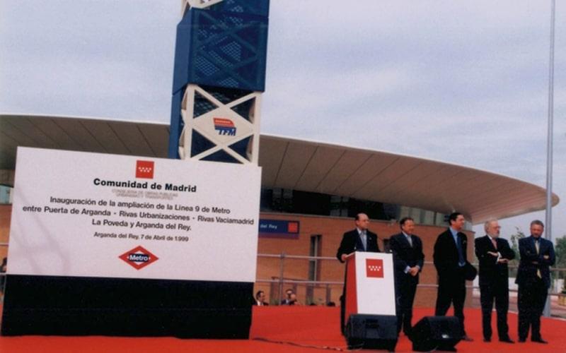 Inauguración del TFM (abril de 1999) (Fuente: Archivo del Ayuntamiento de Arganda del Rey)