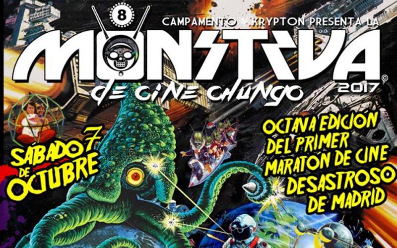 Cartel de la octava edición de la Monstrua de Cine Chungo (Fuente: Campamento Krypton)