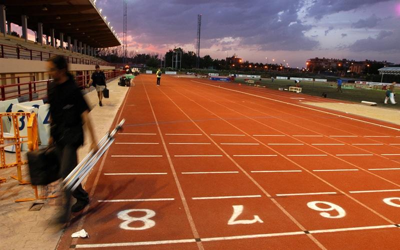 Pista de atletismo del polideportivo del Cerro del Telégrafo (Fuente: Ayuntamiento de Rivas Vaciamadrid)