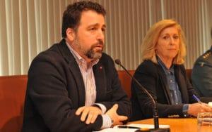 Concepción Dancausa y Pedro del Cura, en una comisión de Seguridad (Fuente: Ayuntamiento de Rivas Vaciamadrid)