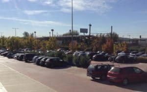 Aparcamiento de la estación de Metro de Rivas Vaciamadrid (Fuente: Diario de Rivas)